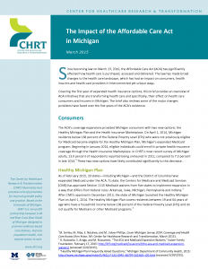 The Impact of the Affordable Care Act in Michigan_CoverPage