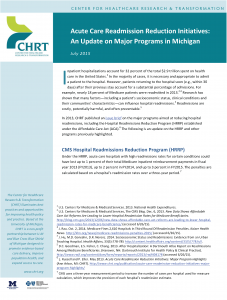 Cover Page Acute Care Readmission Reduction Initiatives 2015 Update_For Review_Revised 7-24
