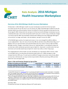 Cover Page_CHRT 2016 Michigan Marketplace rate analysis